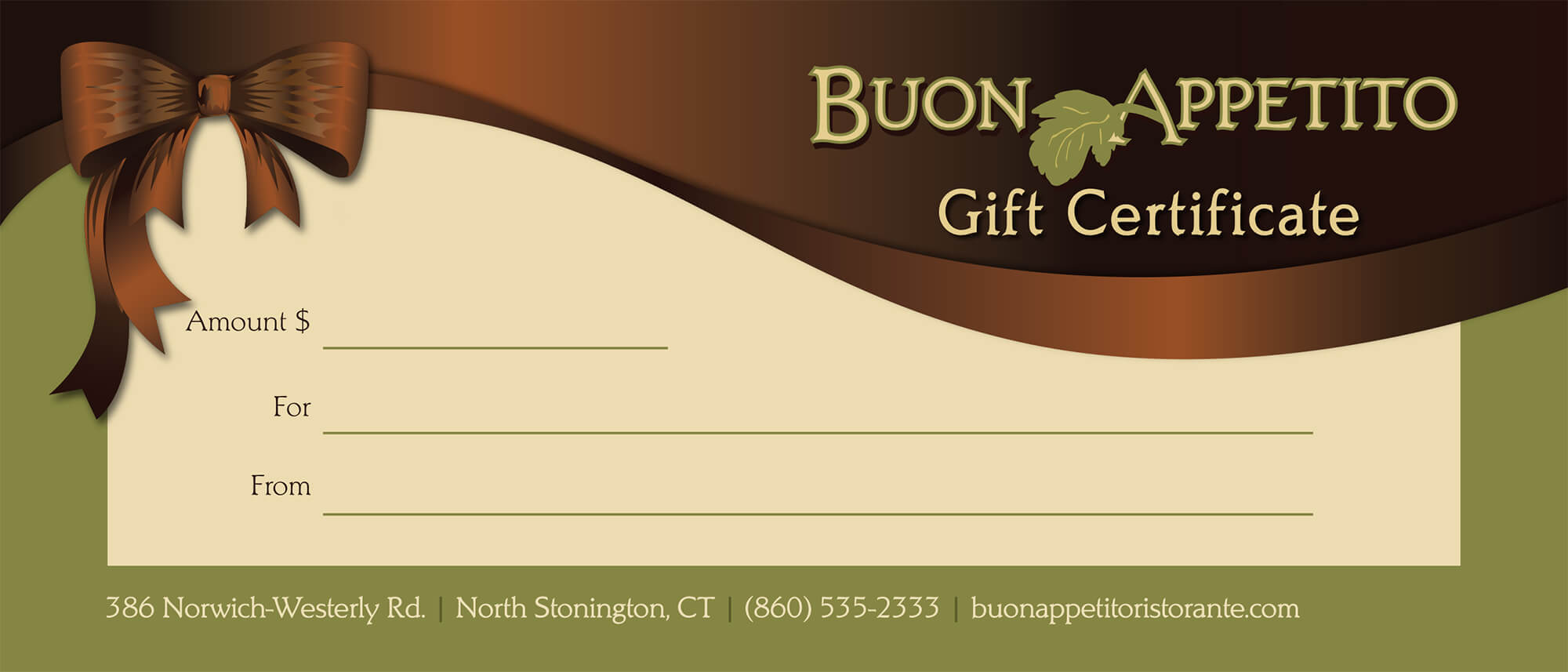 pizza gift certificate template